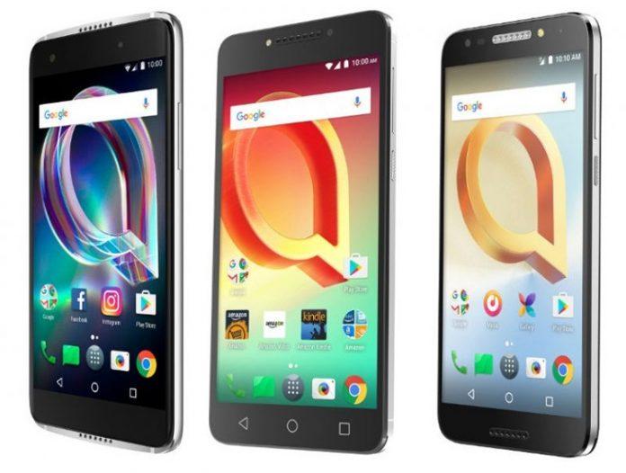Alcatel представила три новых смартфона