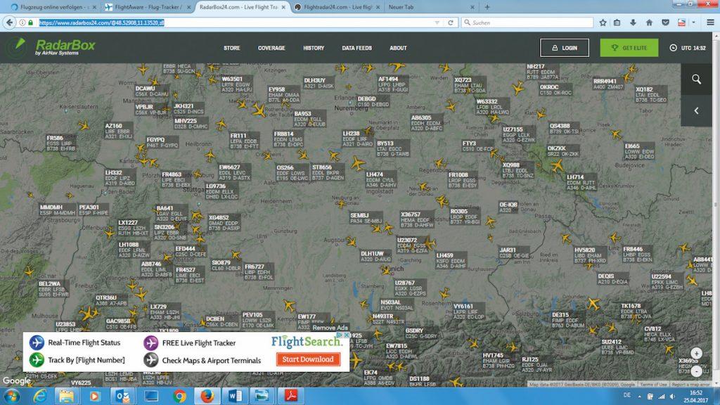 Как следить за перемещением самолетов