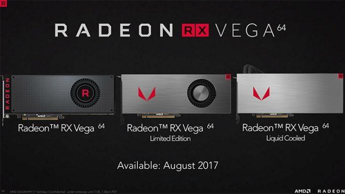 AMD официально представила видеокарты Radeon RX Vega
