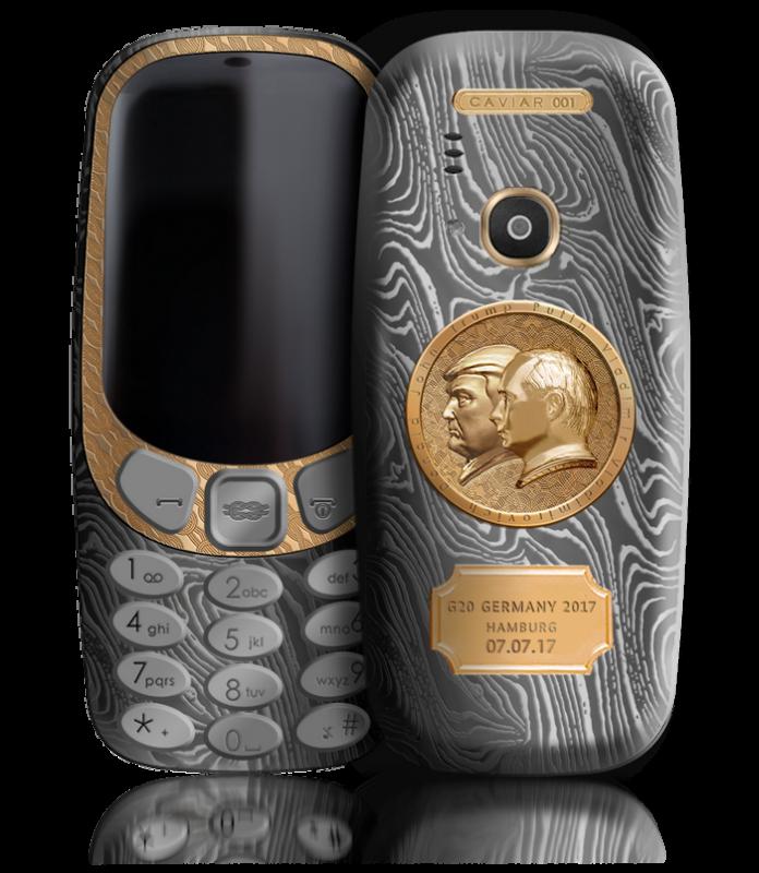 Caviar выпустила золоченый Nokia 3310 с Путиным и Трампом