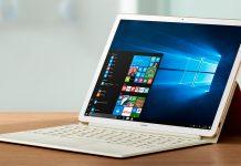 Huawei MateBook E: входящая в комплект поставки клавиатура с интегрированной подставкой служит одновременно еще и в качестве чехла.