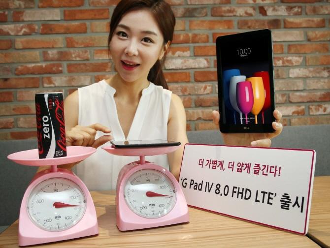 LG представила планшет, который весит, как банка газировки