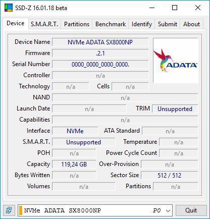 ADATA XPG SX8000 128GB