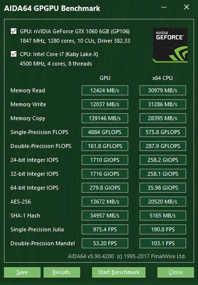 ASUS ROG STRIX X299-E Gaming: тестовый пакет AIDA64