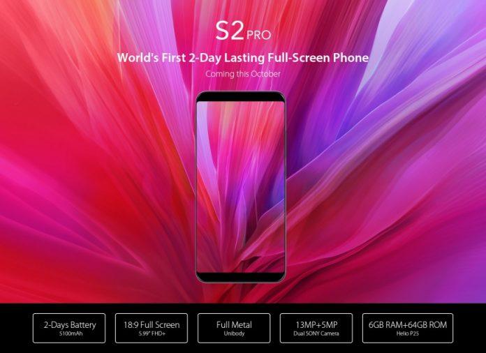 UmiDigi представила смартфон S2 Pro, экран которого занимает 90% площади передней панели
