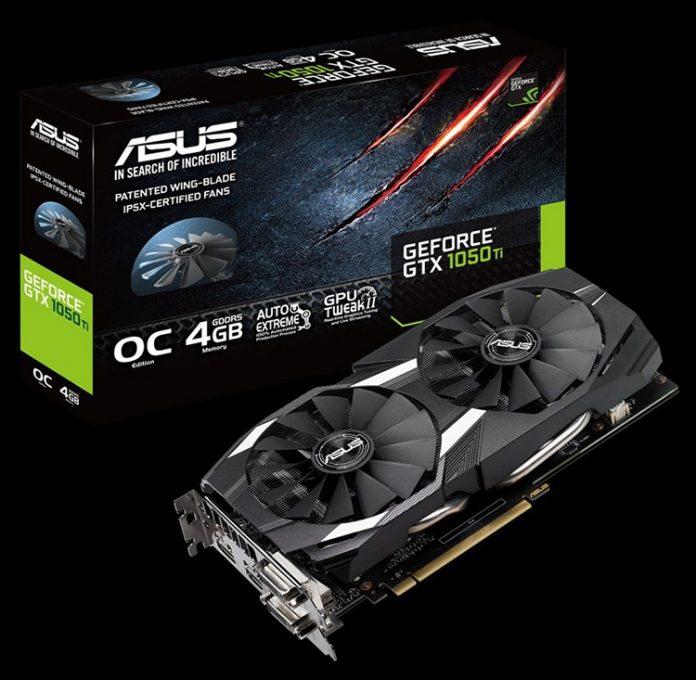 ASUS выпустила видеокарту GeForce GTX 1050 Ti DC2 OC