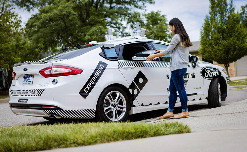 Доставка пиццы беспилотными автомобилями Ford