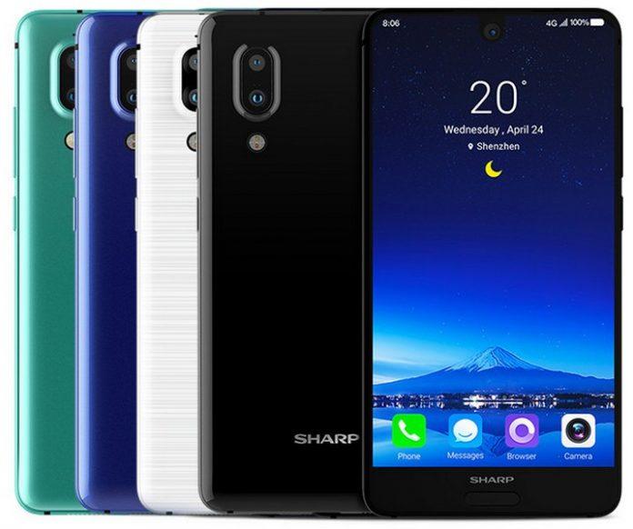 Sharp представила первый смартфон с уникальным экраном Free Form Display — Aquos S2