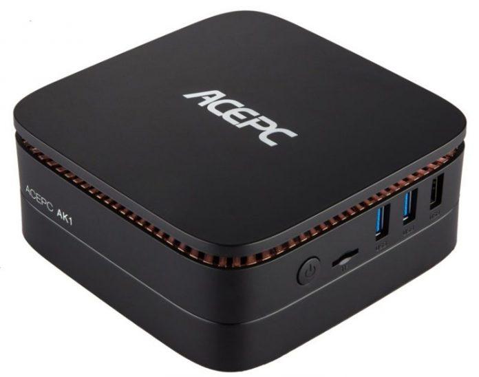 ACEPC представила неттоп AK1, оснащенный процессором Intel Apollo Lake