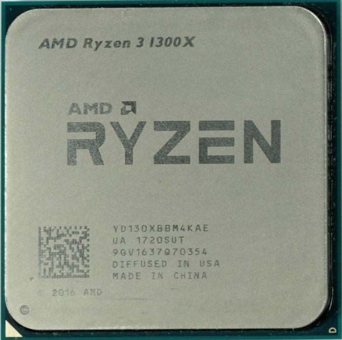 Тест процессора AMD Ryzen 3 1300X