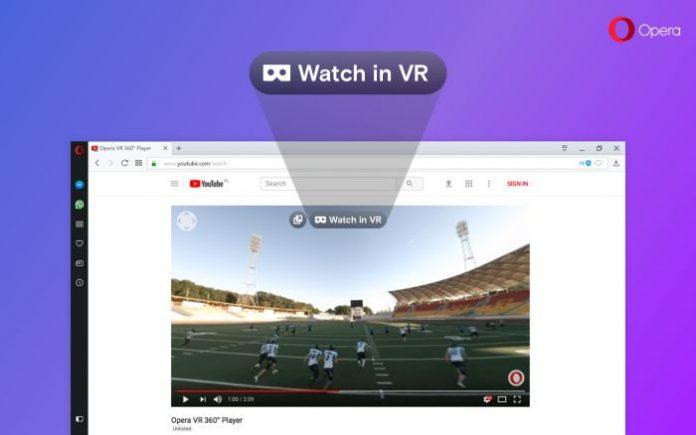 Opera стала первым браузером, поддерживающим 360-градусное VR-видео
