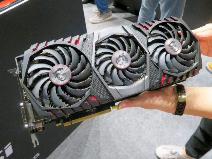 MSI готовит гигантскую версию видеокарты GeForce GTX 1080 Ti