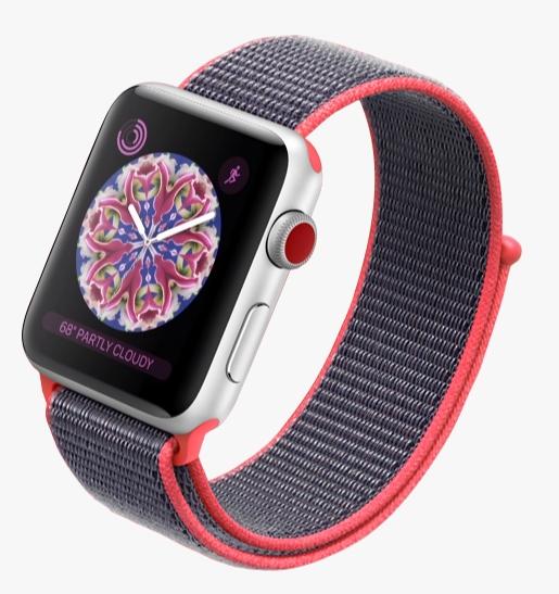 Официально представлены Apple Watch Series 3: до 18 часов без подзарядки