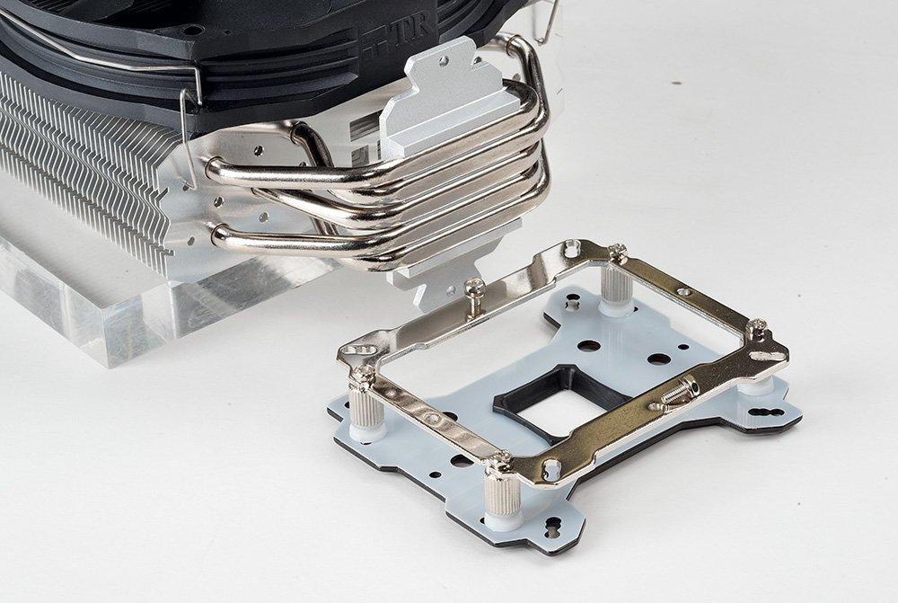 Для процессоров Ryzen X нужны дополнительные кулеры: например, Thermalright True Spirit 140 Direct. Новые кулеры оснащены необходимыми крепежными рамками AM4.
