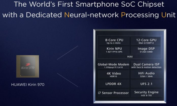 Huawei представила новый процессор для смартфонов Kirin 970