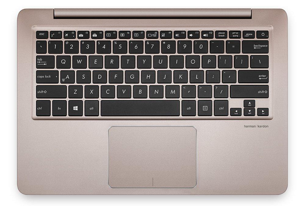ASUS Zenbook UX330UA: к раскладке клавиатуры не придерешься, курсорные клавиши прекрасно выделяются, ни одна из кнопок не расположена в необычном месте.