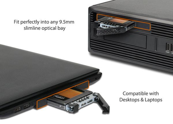 Модуль от Icy Dock позволит установить накопитель вместо оптического привода