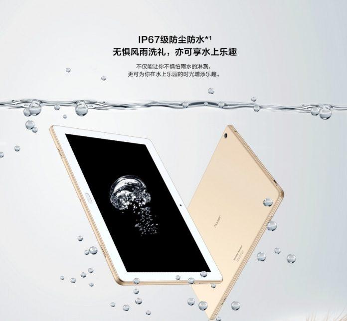 Huawei представила свой первый защищенный планшет Honor WaterPlay