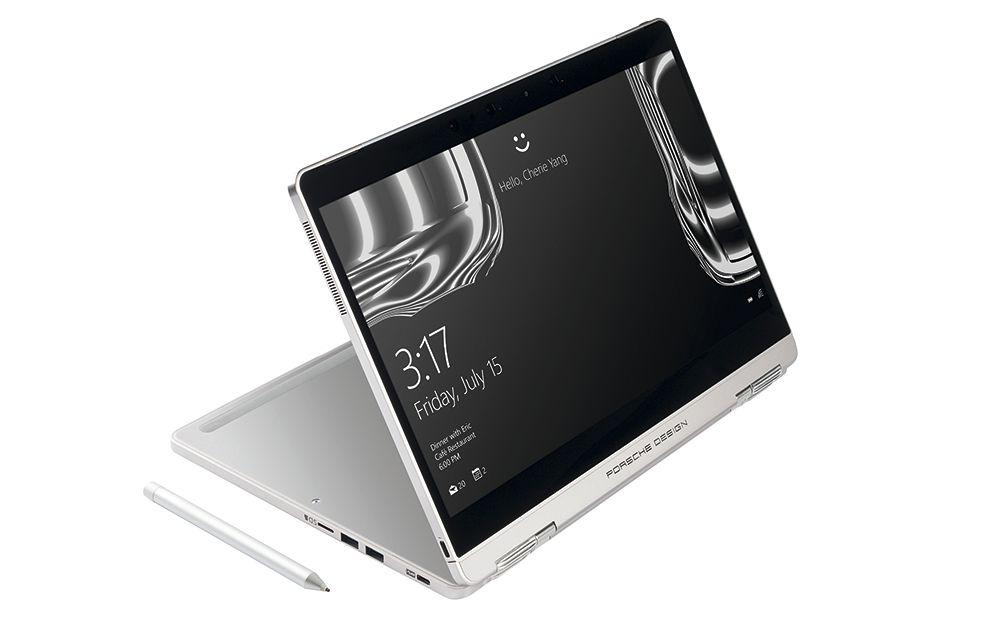 Если отсоединить клавиатуру, ноутбук превращается в планшет, как Porsche Design Book One.