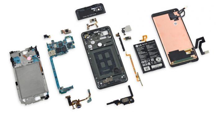 Ремонтопригодность Google Pixel 2 XL выше, чем Samsung Galaxy S8, но ниже, чем Xiaomi Redmi Note 3