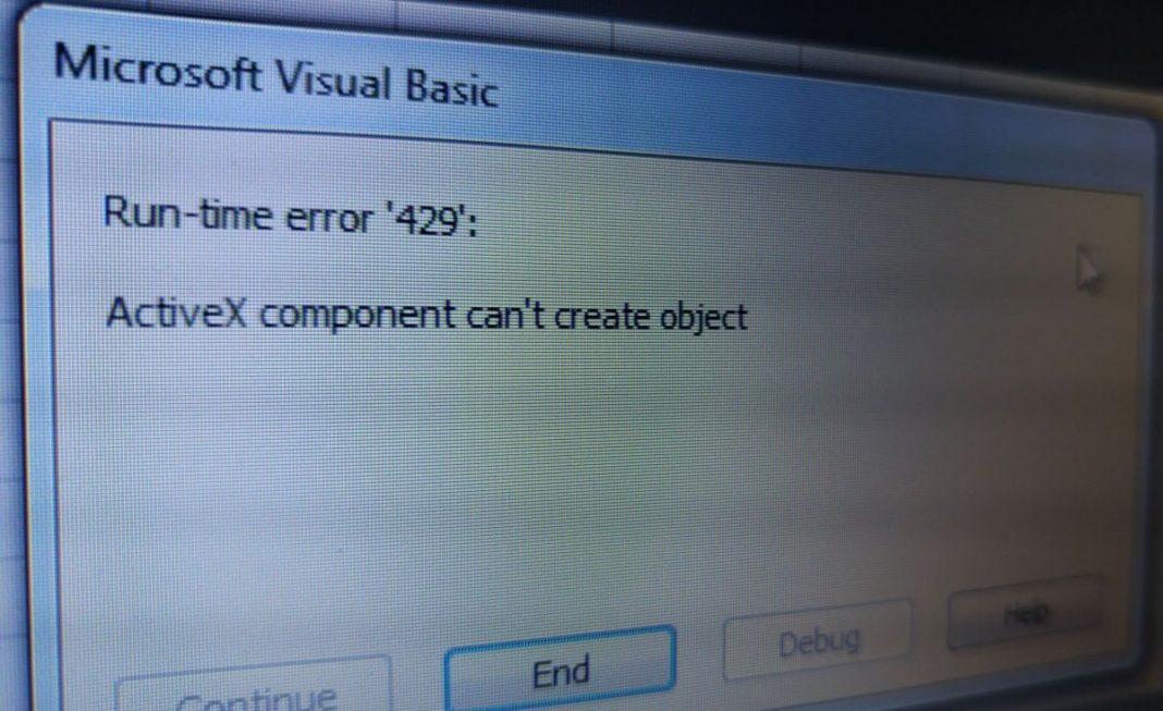 Анализ причин ошибок ActiveX при работе в Windows