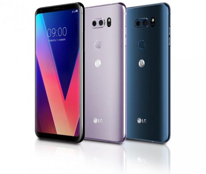 Названа российская цена флагманского смартфона LG V30+