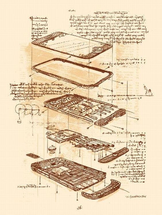 Фейк: Среди чертежей Леонардо да Винчи нашли изображение смартфона