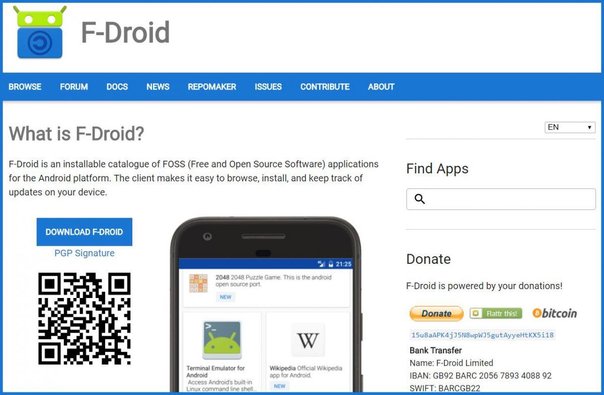 Магазин приложений f-droid.org