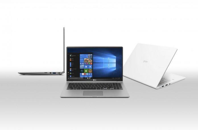 LG анонсировала ультралегкие ноутбуки весом менее 1 килограмма