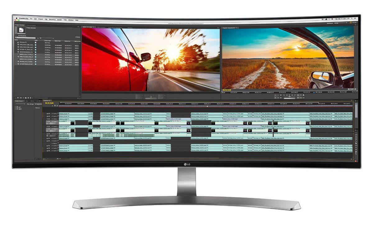 Мониторы с соотношением сторон 21:9 (здесь — LG 34UC98) предлагают в офисной сфере некоторые преимущества, например, большую свободную рабочую область.