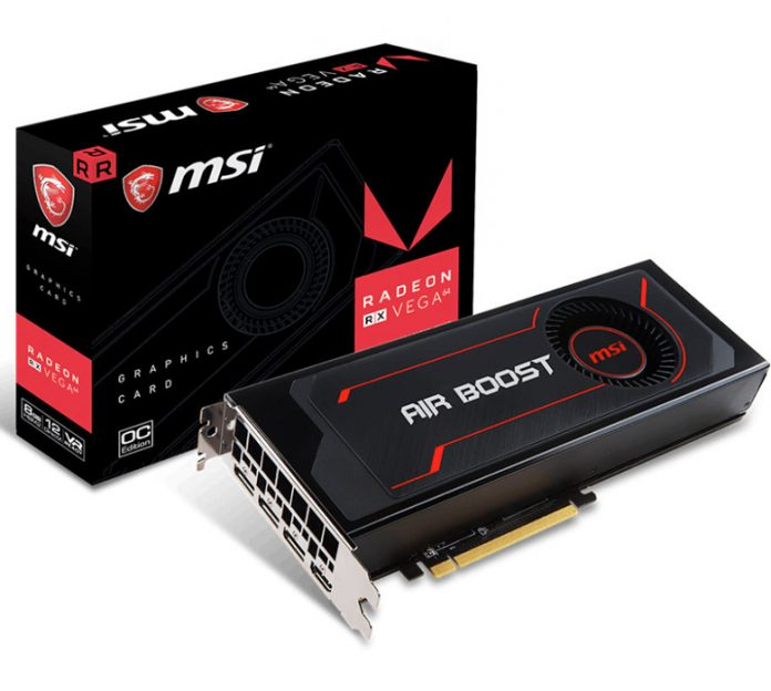 MSI представила видеокарту с заводским разгоном Radeon RX Vega 64 Air Boost