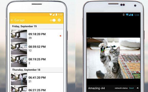 Мобильный телефон может снимать как веб-камера или принимать трансляции с другого устройства