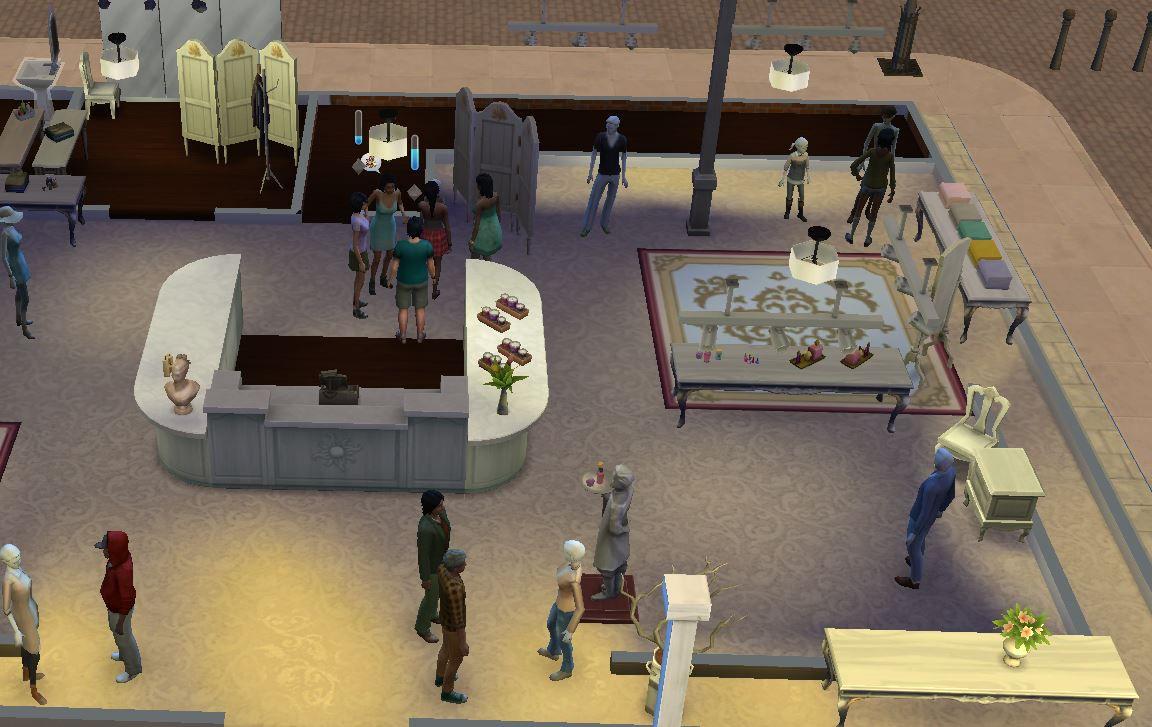 Магазин розничной торговли в «The Sims 4»