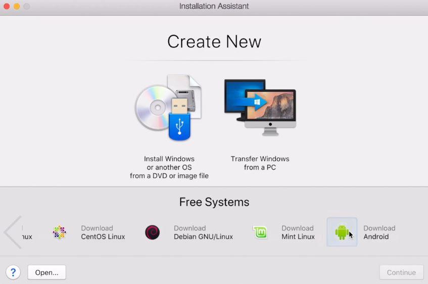 Установка Android на Mac с помощью Parallels Desktop