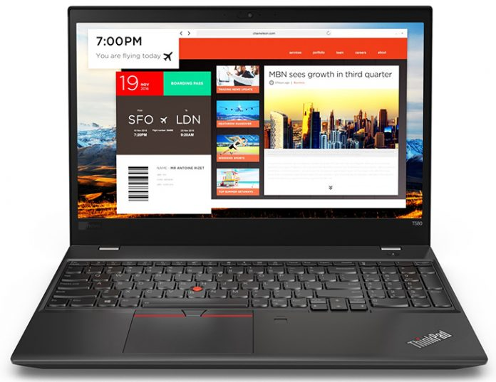 Lenovo представила ноутбуки ThinkPad T480 и ThinkPad T580
