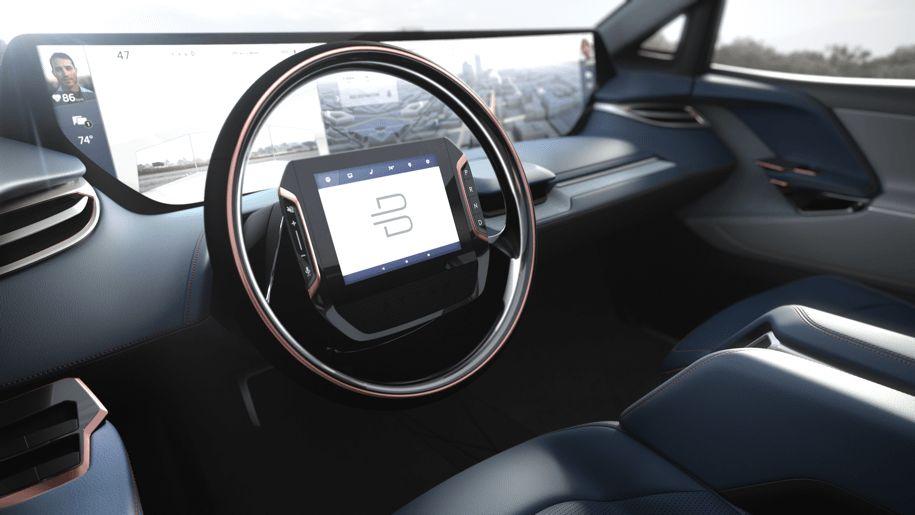 Byton представила электромобиль с мега-дисплеем