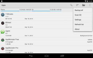 AppMonster поможет сделать резервные копии приложений