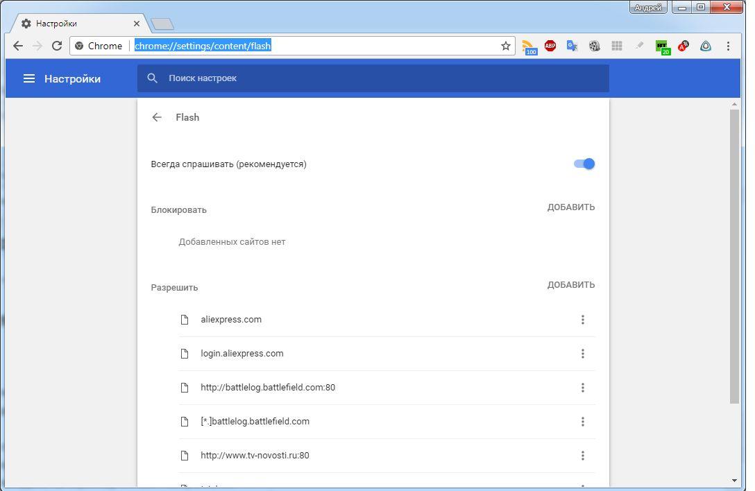 Как активировать Flash Player в браузере