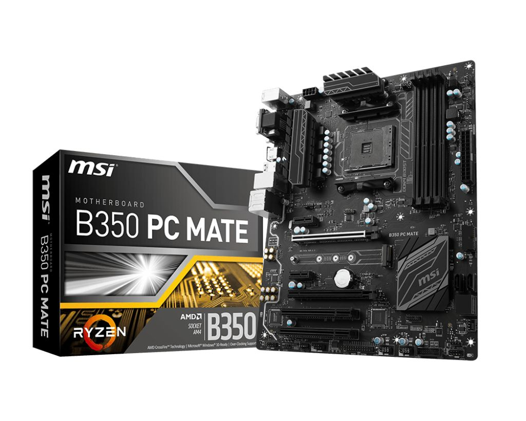 Тест материнской платы MSI B350 PC Mate