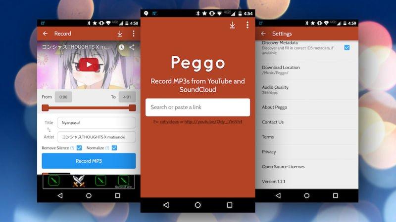У приложения Peggo простой пользовательский интерфейс