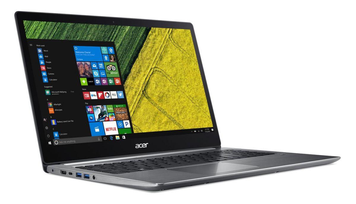 Acer Swift 3 сильно проигрывает конкурентам в яркости экрана