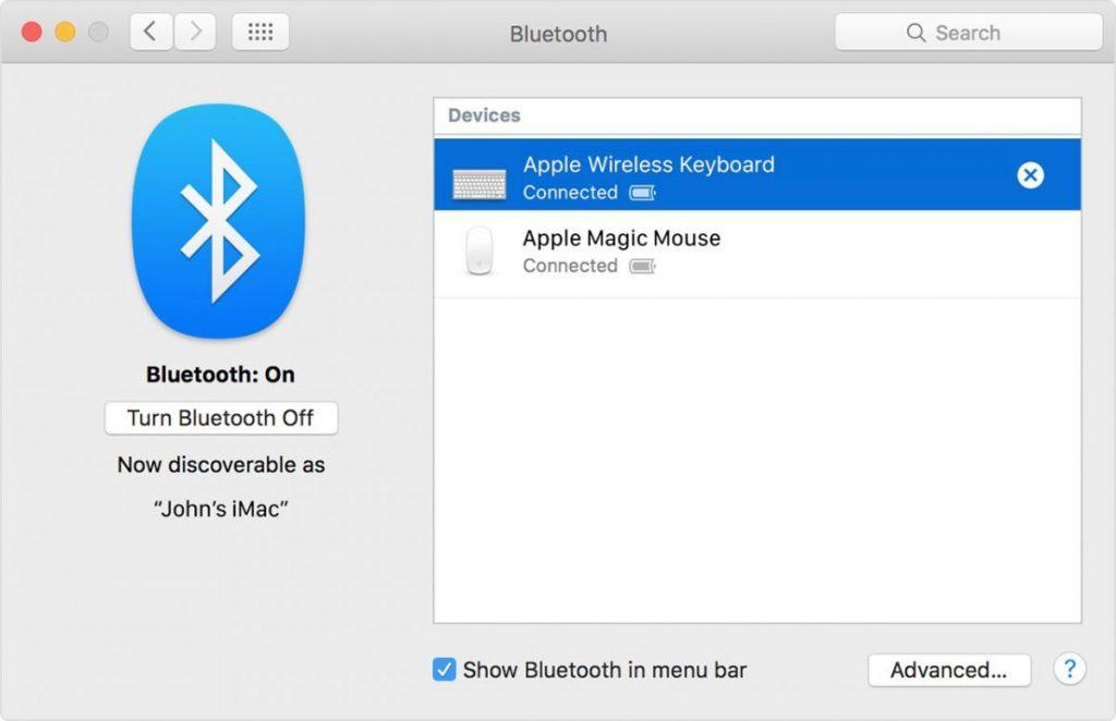 Выключаем Bluetooth на Mac