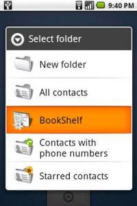 Live Folders в старых версиях Андроид