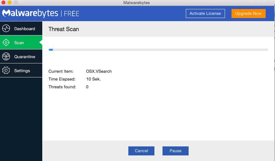Удаляем BitCoinMiner.sx с помощью Malwarebytes Anti-Malware