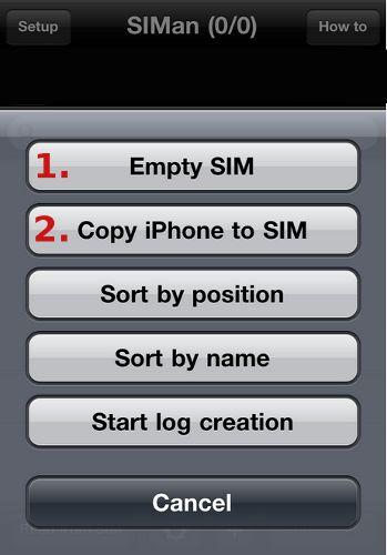 Как скопировать номера телефонов с iPhone на SIM-карту?