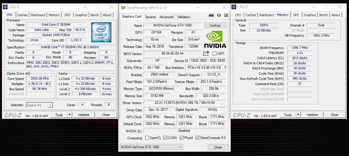 HP Omen X 17ap004ur - информация о системе