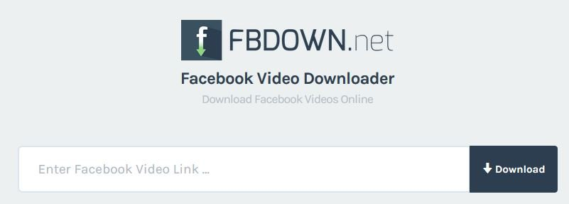 Скачайте видео с Facebook с помощью сайта fbdown.net