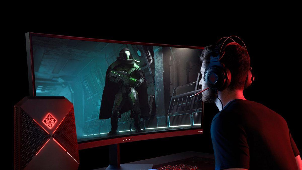 Изогнутые мониторы HP для видеоигр