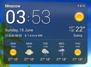 """Виджет """"Погода"""" в Android"""