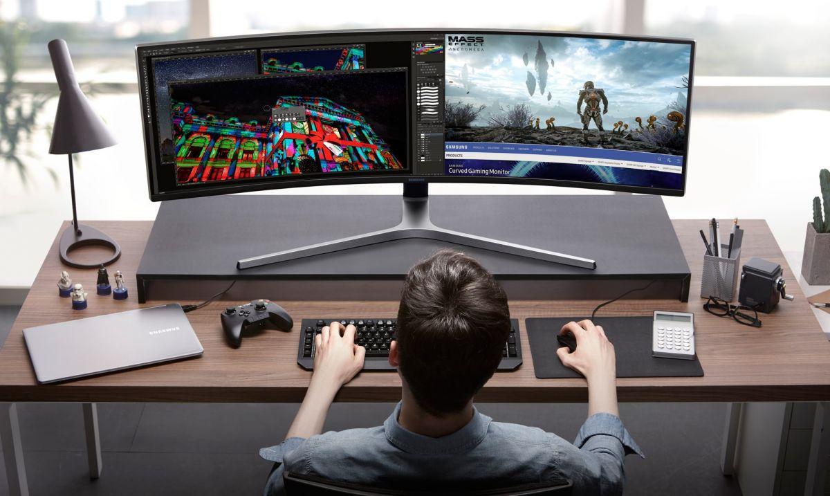 Samsung C49HG90 может заменить два полноценных монитора с разрешением Full-HD